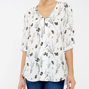Butterfly tunic with quarter zipper